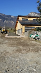 parking en construction